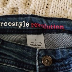 freestyle revolution Jeans - 💐Floral embroidered skinny jeans